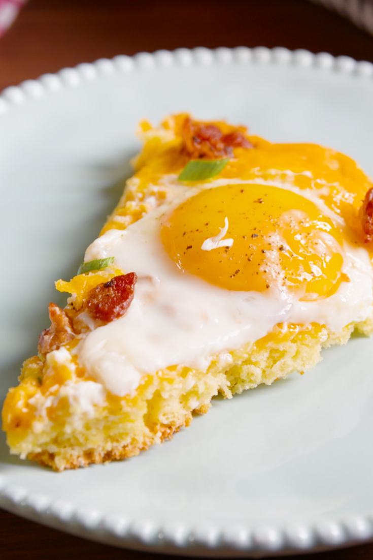 Best Cornbread Breakfast Pizza Recipe How To Make Cornbread Breakfast Pizza Delish Com