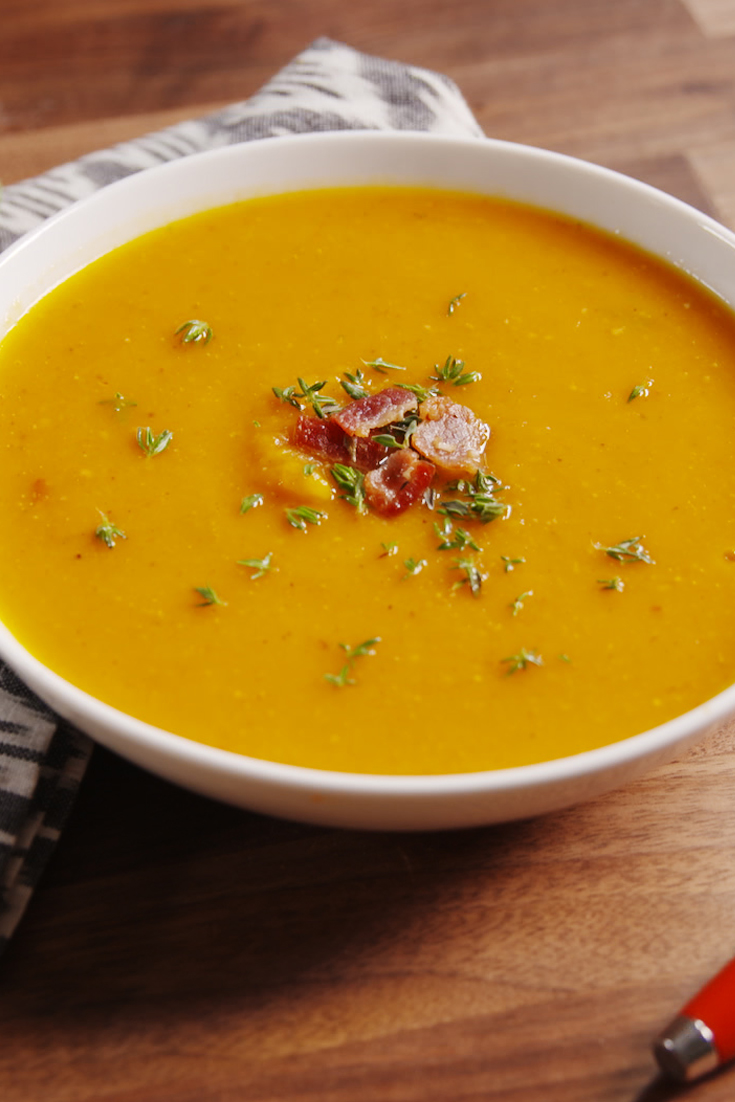how to serve butternut squash soup