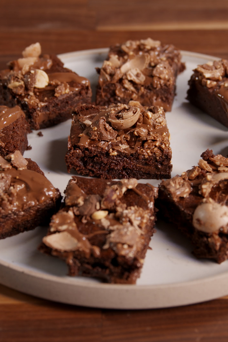Nutella Topped Brownies 70 Easy Brownie Recipes How To Make Chocolate Brownies Delishcom