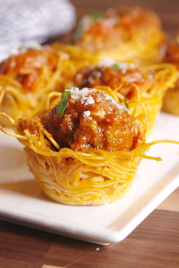 Best Spaghetti Amp Meatball Cups Recipe How To Make