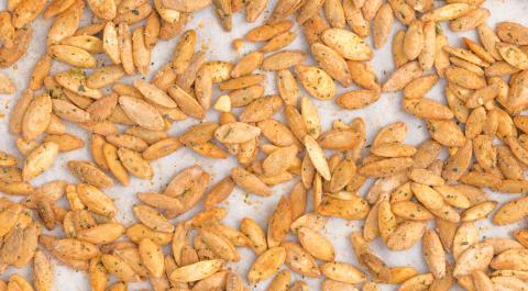 Ranch-roasted pumpkin seeds