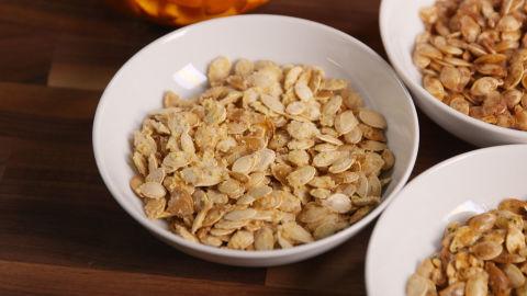 Garlic-Parmesan Pumpkin Seeds