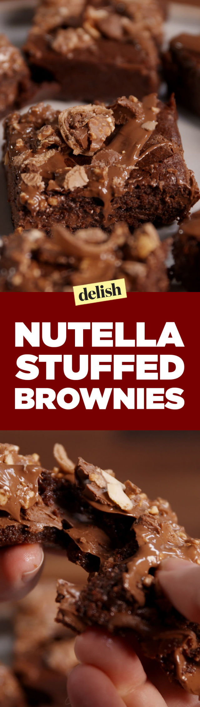 Nutella Topped Brownies Best Nutella Stuffed Brownies Recipe How To Make Nutella Stuffed