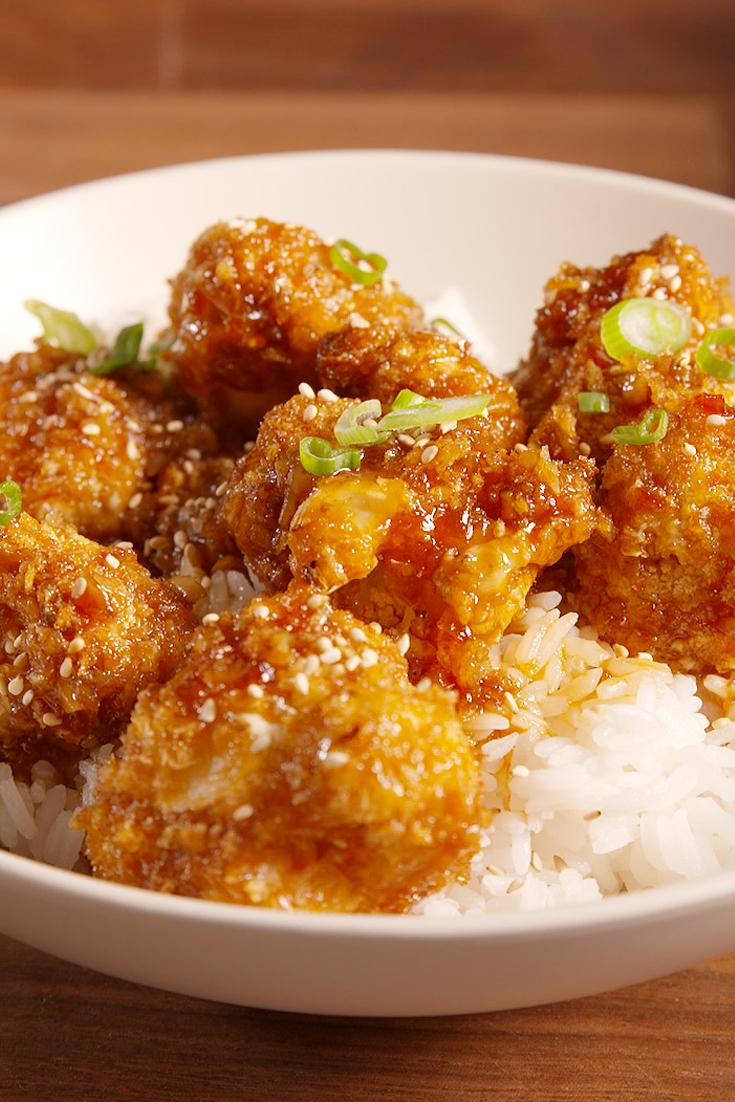 Best General Tso Cauliflower Recipe How To Make General Tso Cauliflower Delish Com