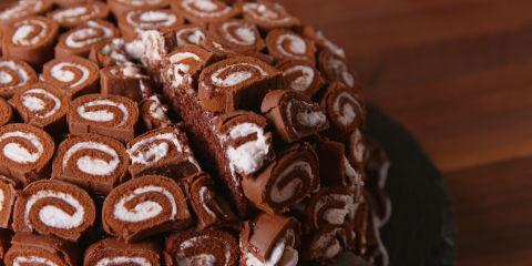 Swiss Roll Cake Horizontal Beauty