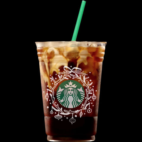 Starbucks holiday iced cup