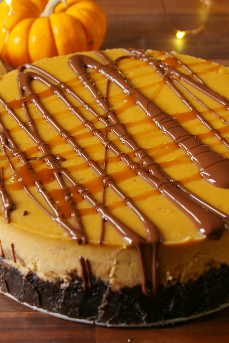 Best Chocolate Pumpkin Cheesecake Recipe How To Make