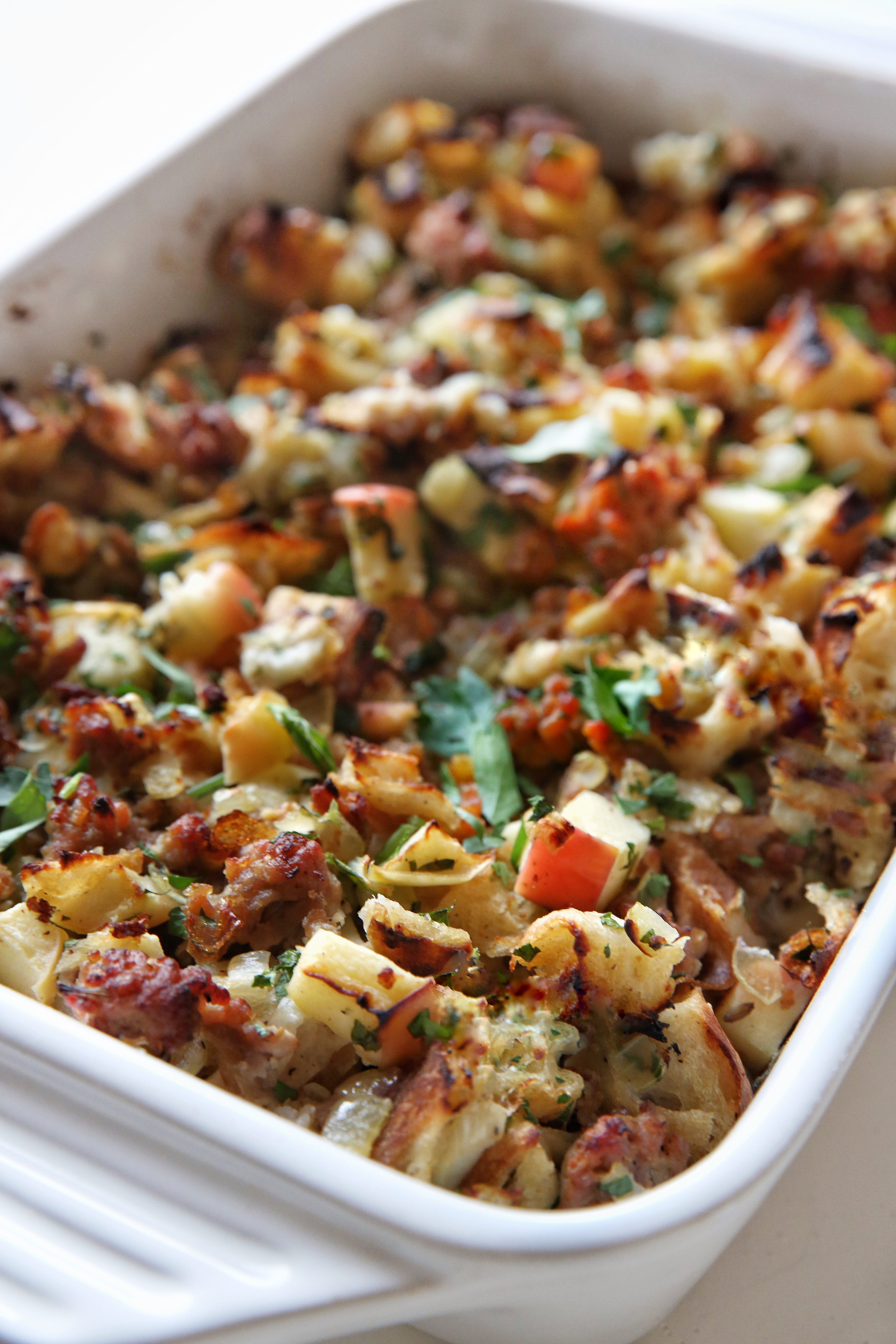 stuffing recipe thanksgiving apple recipes easy delish awesome bread focaccia sausage turkey dressing homemade food fall visit