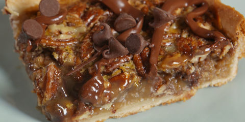 Chocolate Pecan Slab Pie