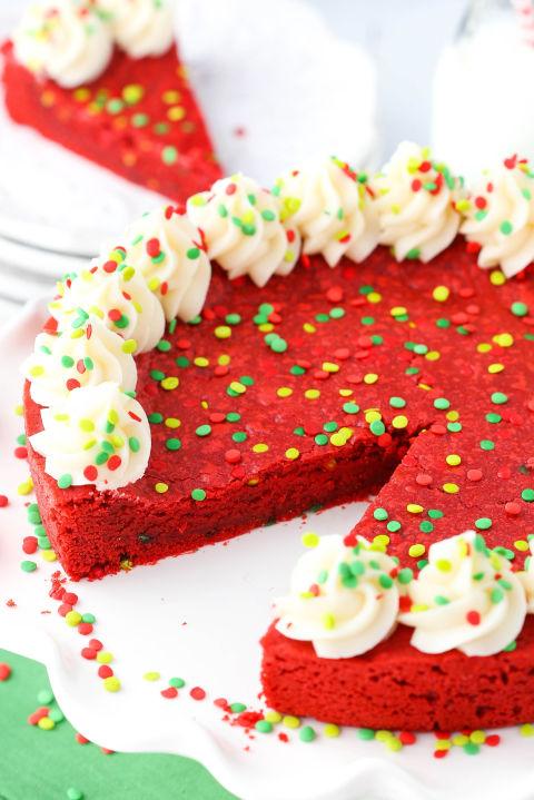 Red Velvet Cookie Cake Recipe
