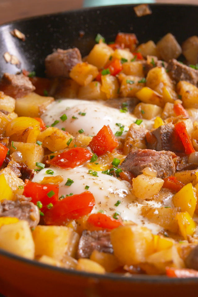 Best Steak & Eggs Hash Recipe-How To Make Steak & Eggs Hash–Delish.com
