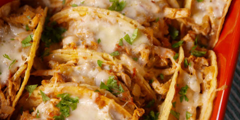70 traditional mexican food authentic mexican recipes cheesy baked tacos horizontal forumfinder Gallery