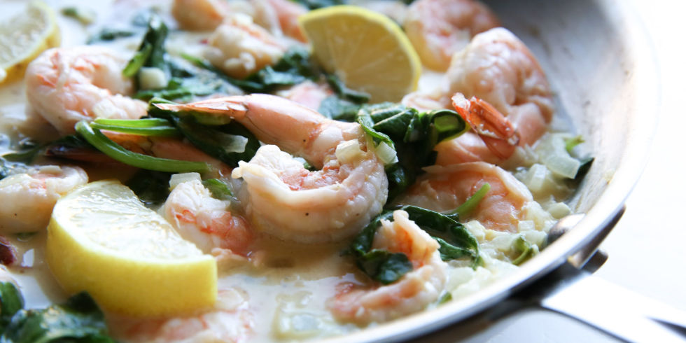 Easy recipes with shrimp and spinach