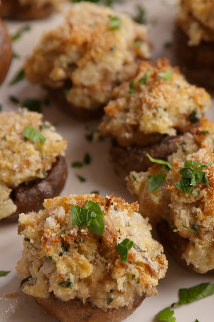 Best Boursin-Stuffed Mushrooms Recipe-How To Make Boursin ...