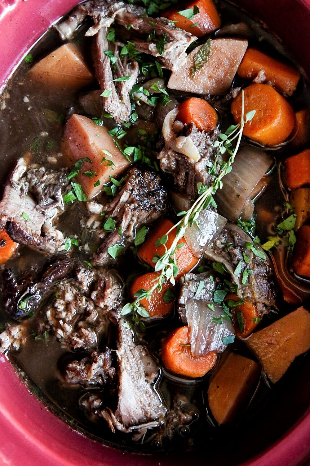 Best Slow Cooker Balsamic Pot Roast Recipe How To Make Slow Cooker Balsamic Pot Roast Delish Com