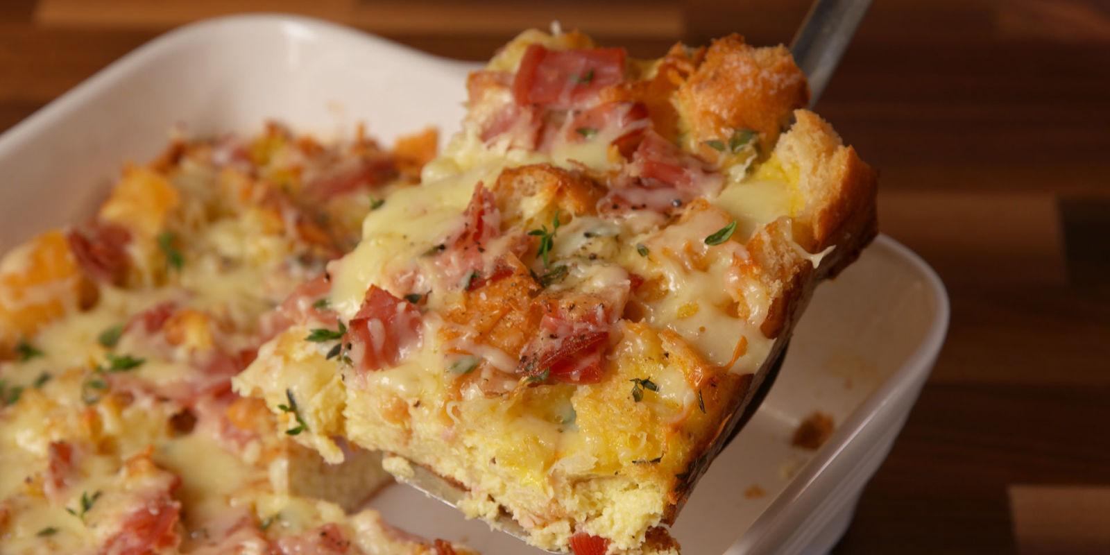 Best Ham \u0026 Cheese Brunch Bake Recipe - How to Make Ham \u0026 Cheese ...