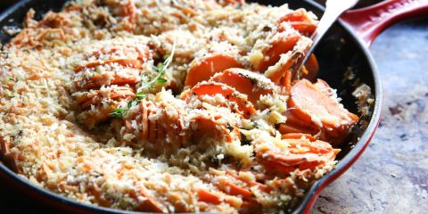 Cheesy Sweet Potato Casserole Horizontal