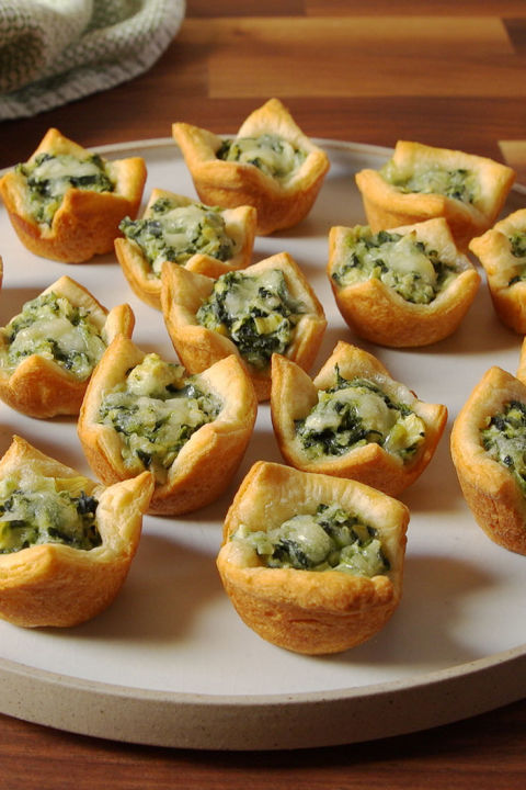 Creative Baby Shower Appetizers Part - 33: Spinach U0026 Artichoke Cups Vertical