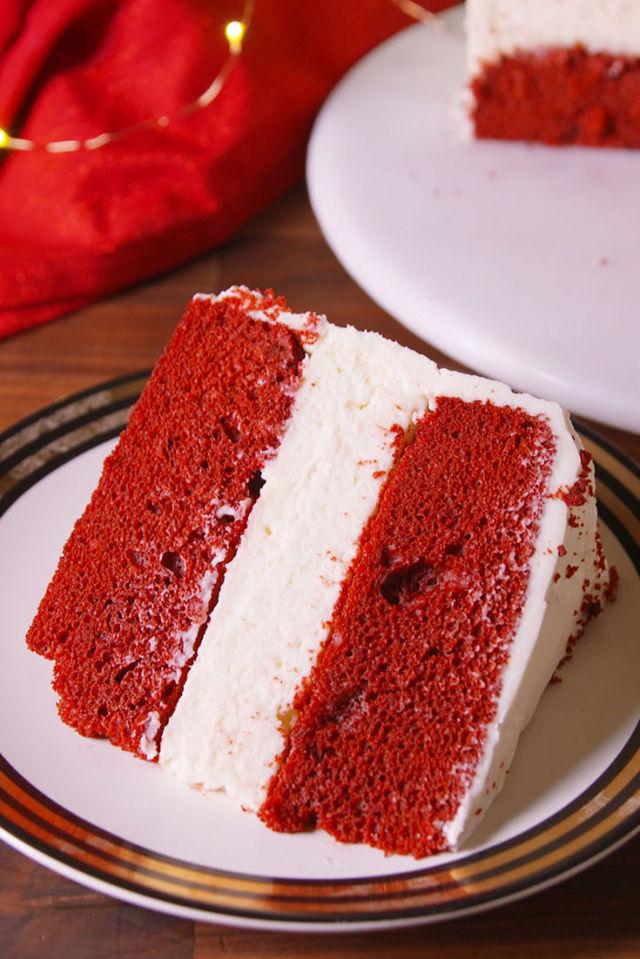 Red velvet cake box recipe