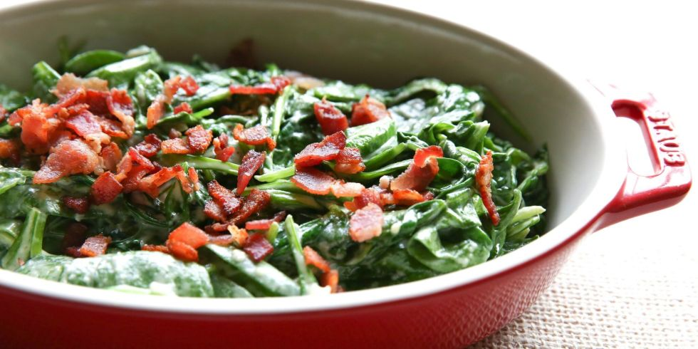 Creamed Bacon Spinach Horizontal