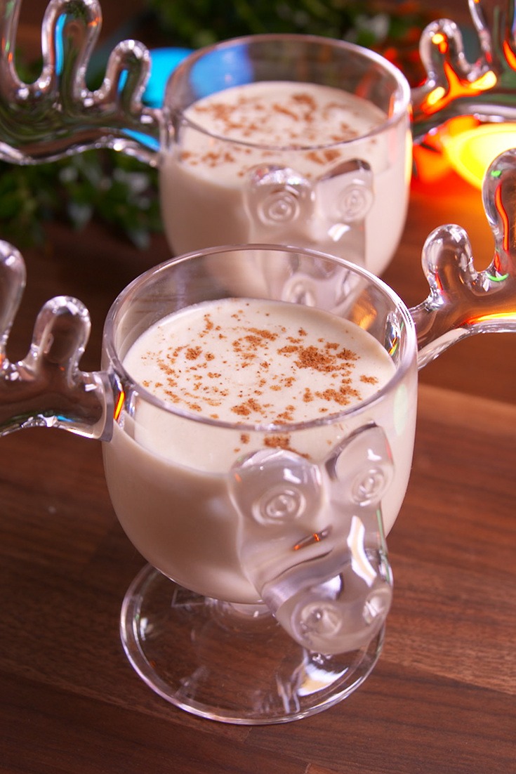 Homemade Eggnog Drinks And