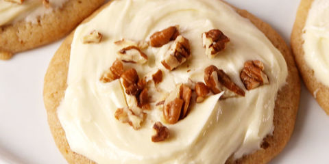 Buttery cookies smothered with a maple frosting = HEAVEN.Get the recipe from Delish.
