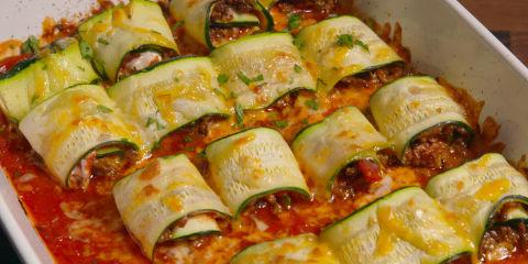 Zucchini Taco Roll-Ups Horizontal Group