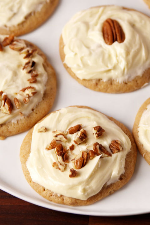 Buttery cookies smothered with a maple frosting = HEAVEN.Get the recipe fromDelish.