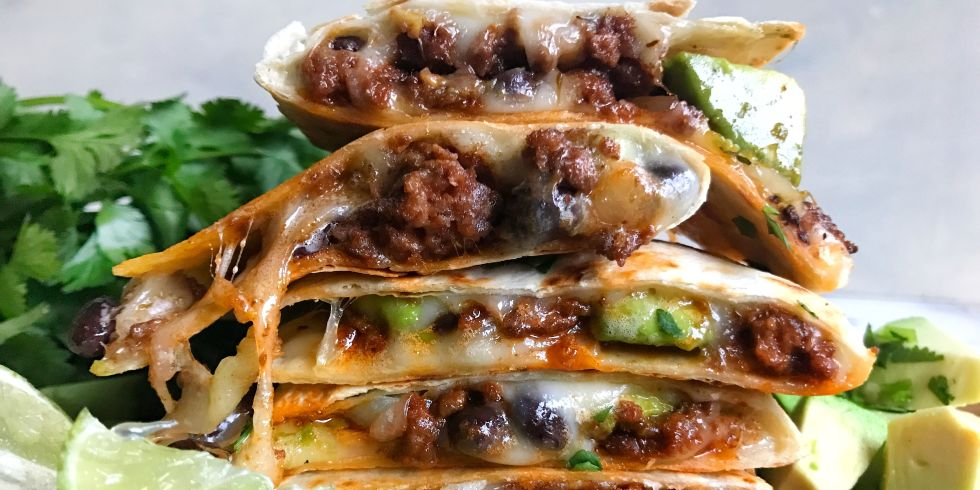 25 best mexican ground beef recipes how to cook ground beef beef and avocado quesadillas horizontal forumfinder Gallery