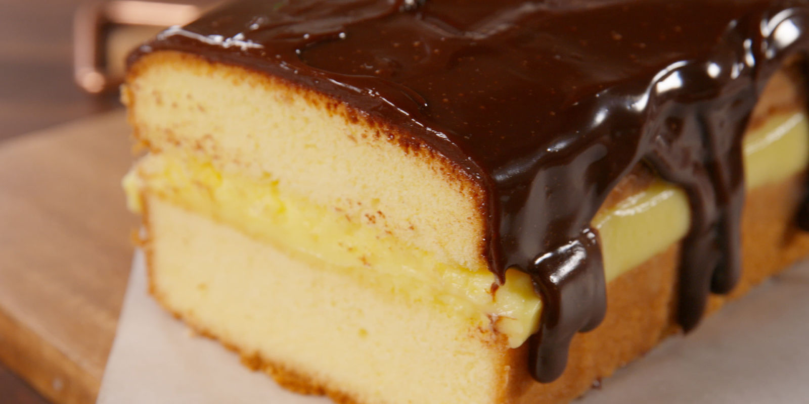 Easy Boston Cream Cake