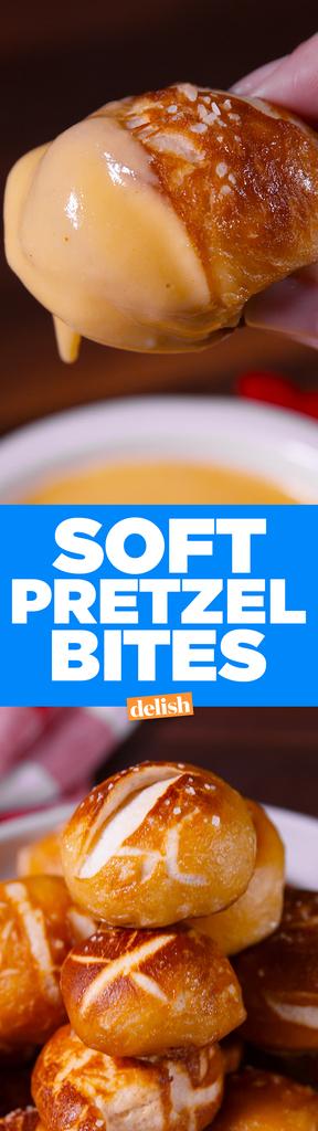 Cooking Homemade Soft Pretzel Bites Video — Homemade Soft ...
