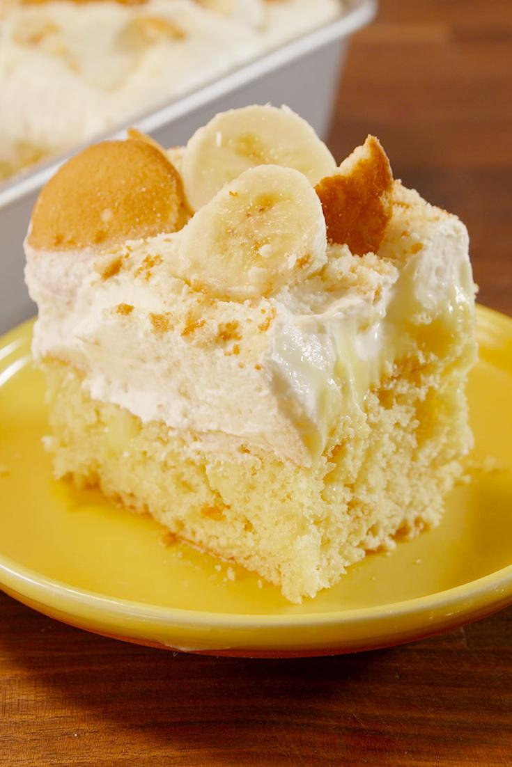 Banana Pudding Poke Cake Delish