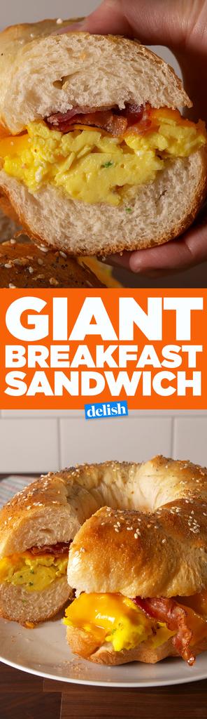 Best Giant Breakfast Sandwich - Delish.com