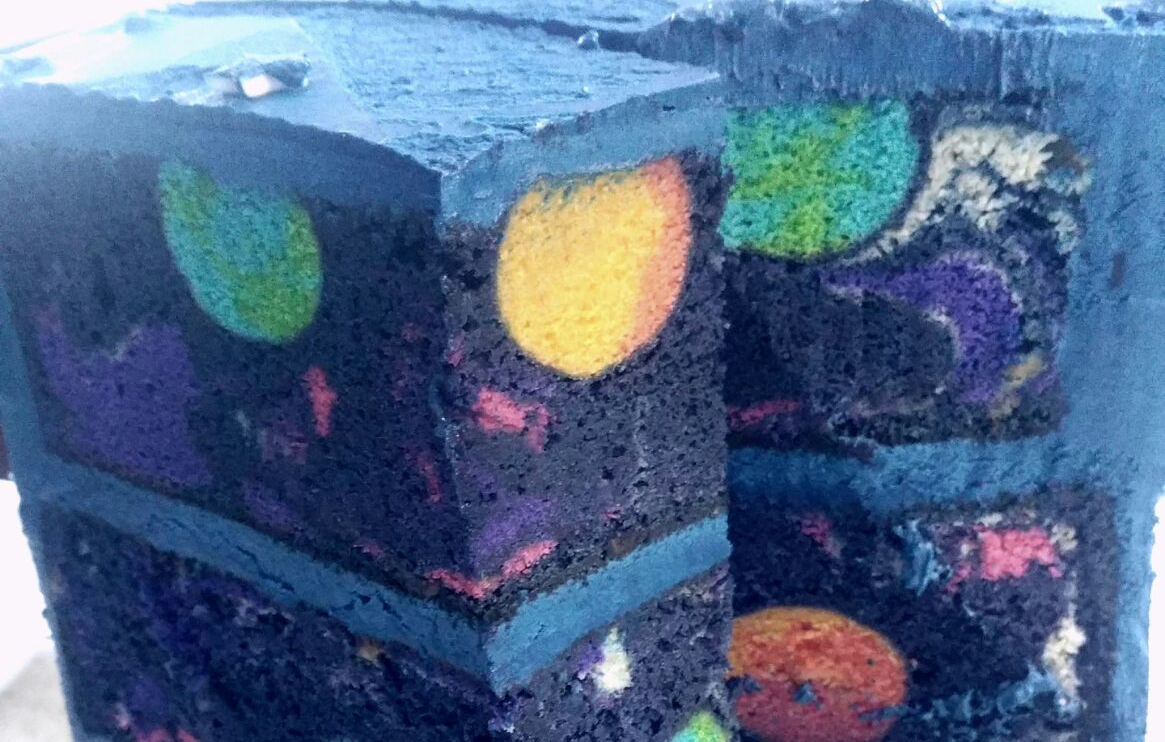 Space Cake With Galaxy Inside
