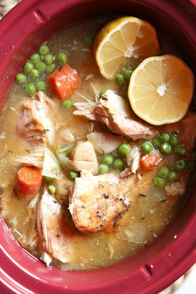 Slow Cooker Lemon Garlic Chicken Vertical