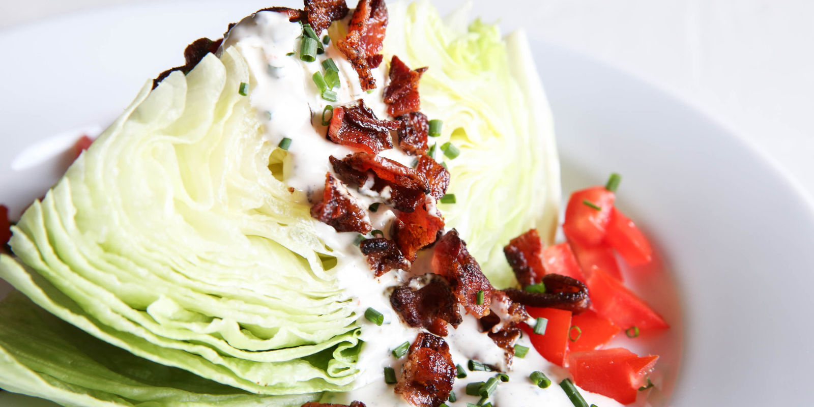 how to cut a wedge salad