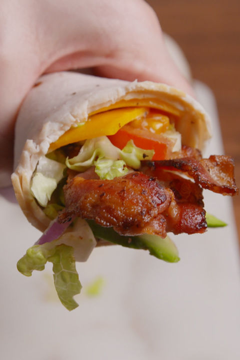This low-carb lunch ditches the wrap for something way more clever. Get the recipe from Delish.