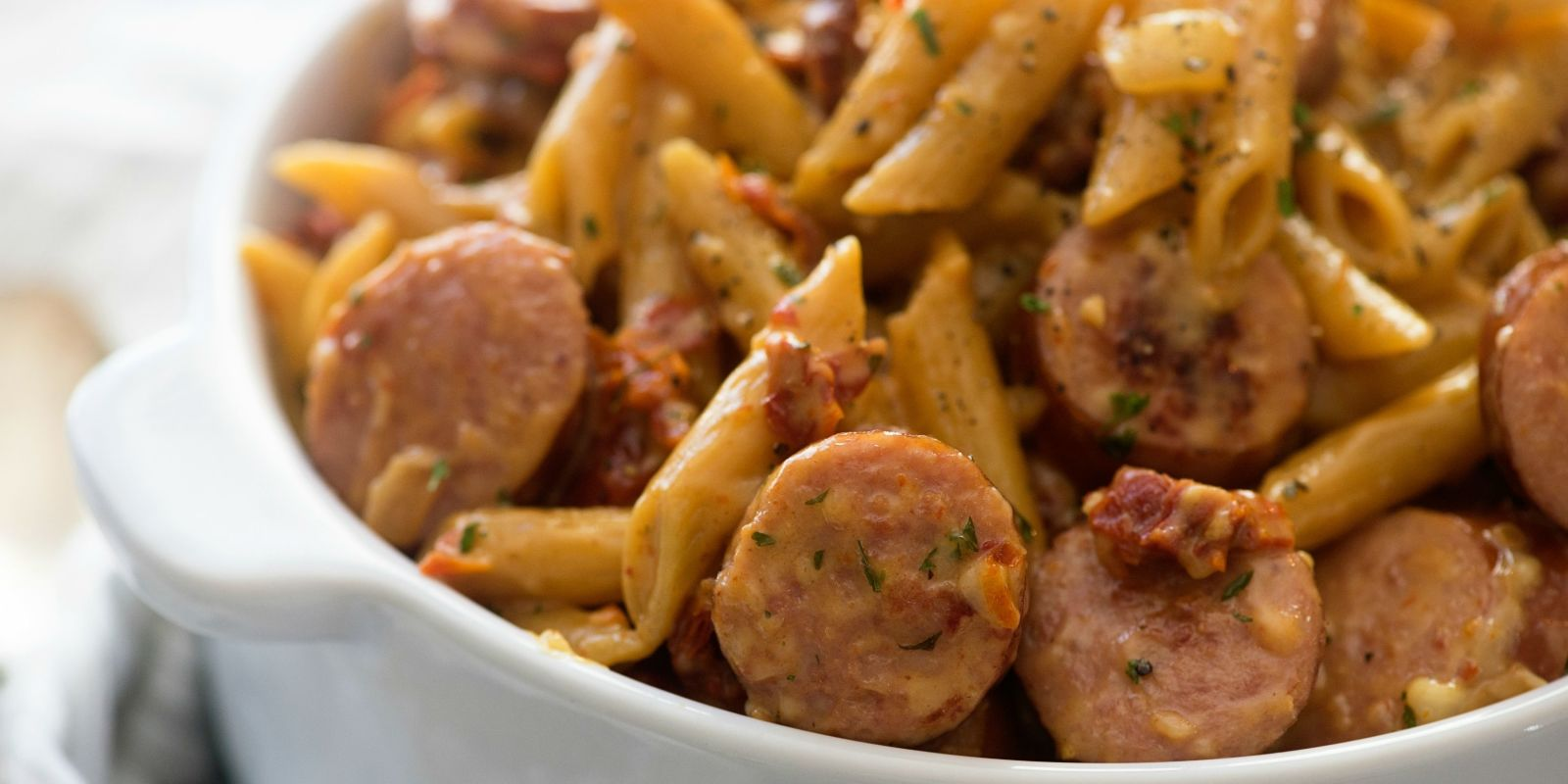 Best Sun-Dried Tomato & Sausage Pasta Recipe-How To Make ...