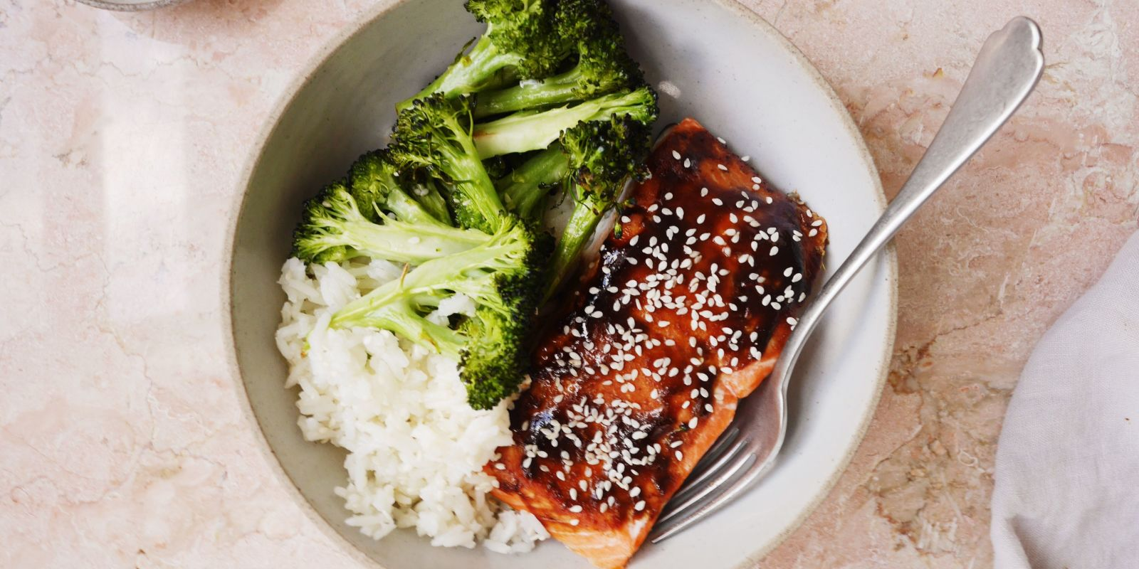 Best Hoisin Glazed Salmon With Broccoli And Sesame Rice
