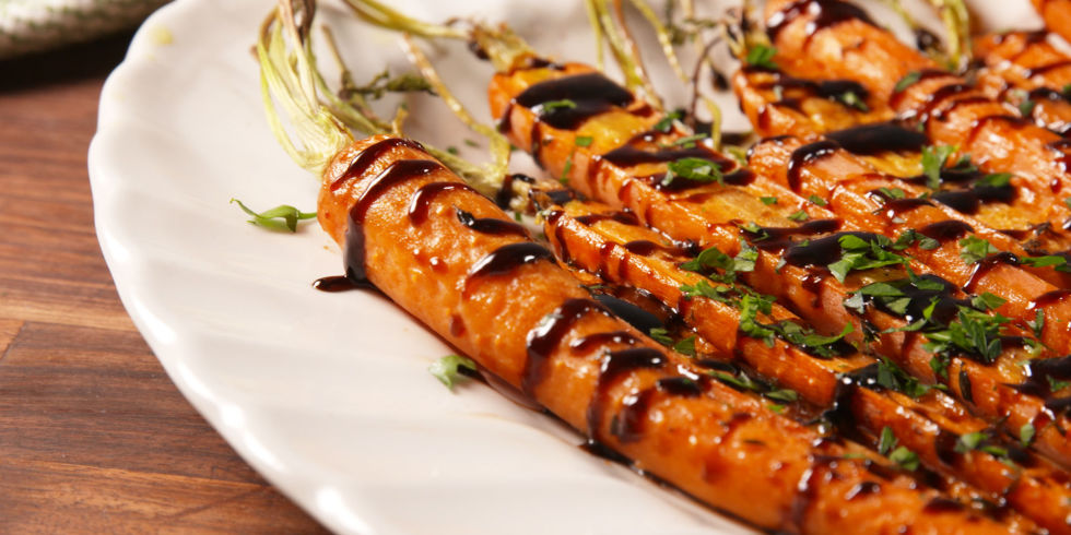 60 easy easter side dishes recipes for easter dinner sides balsamic glazed carrots forumfinder Choice Image