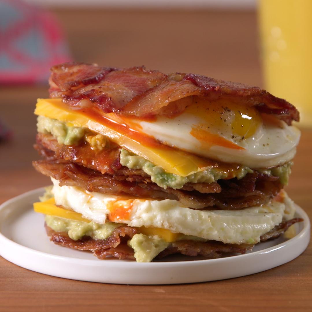 Best Bacon Weave Breakfast Sandwich Recipe How To Make Bacon Weave Breakfast Sandwich