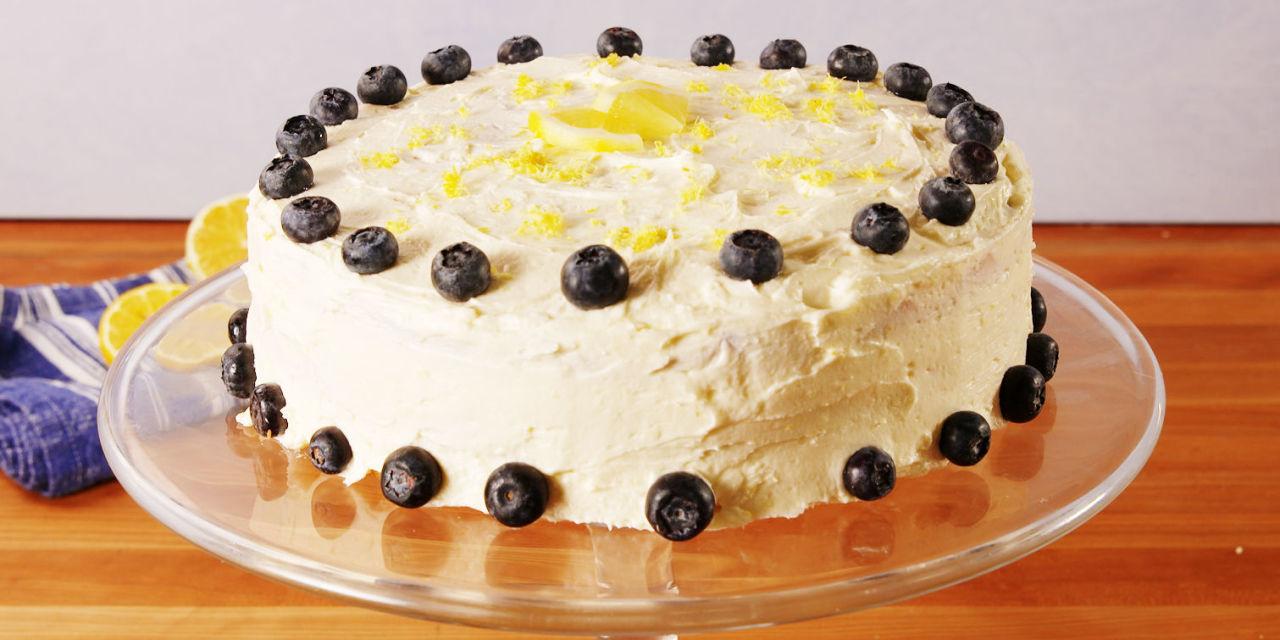 Lemon Blueberry Cake Delish