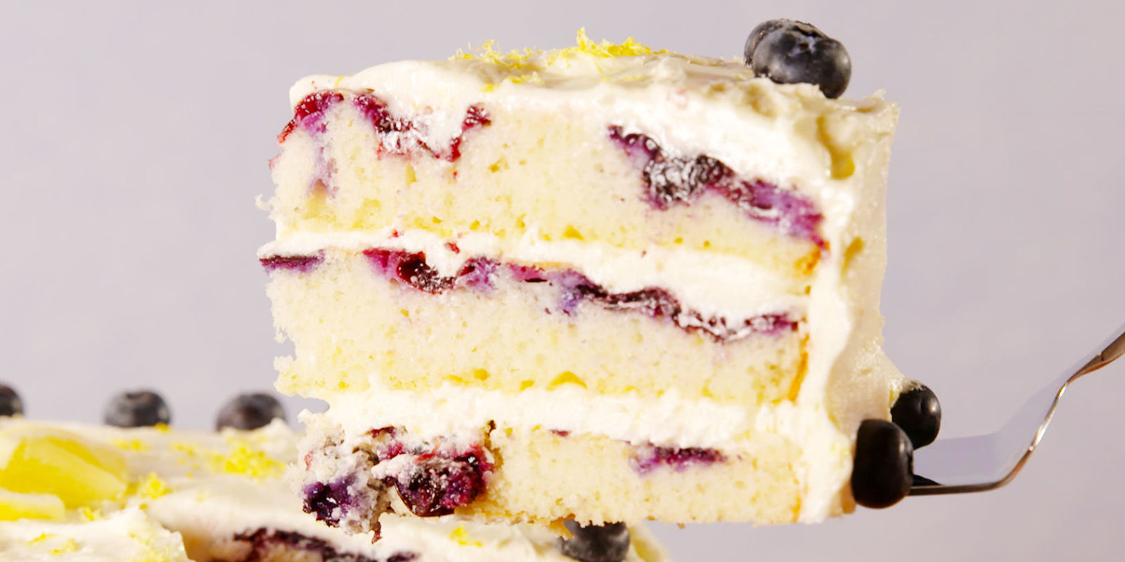 Best Lemon Blueberry Cake Recipe - How to Make Lemon ...