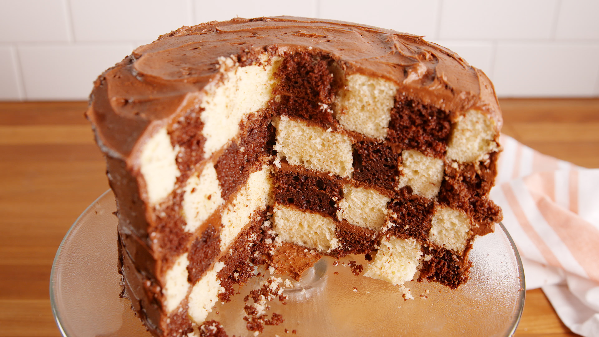 Easy Checkerboard Cake Recipe
