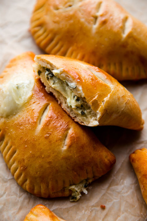 Hot Cheese and Spinach Stuffed Pockets Vertical