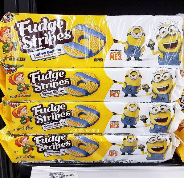 Despicable Me Vanilla Cupcake Fudge Stripes Are Now In Stores