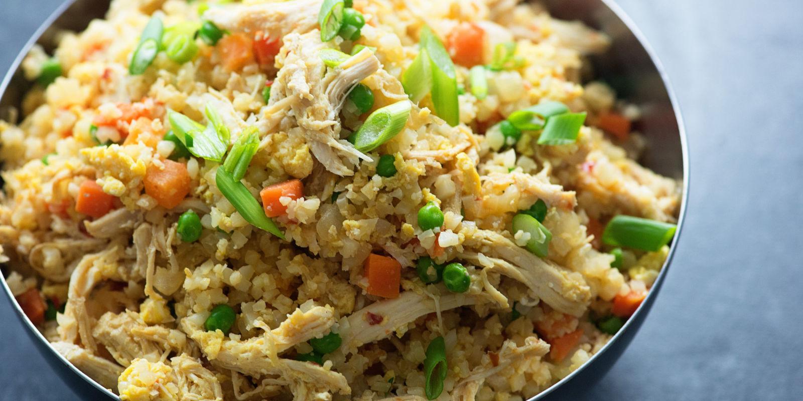 Best Chicken Fried Cauliflower Rice Recipe How To Make Chicken Fried Cauliflower Rice Delish Com