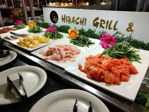 Hibachi grill wedding