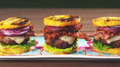 Pineapple Bun Burgers Horizontal