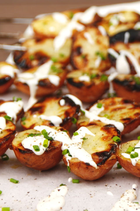 Now we want to grillallour potatoes! Get the recipe fromDelish.